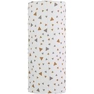 T-tomi TETRA beige triangles bath towel - Children's bath towel