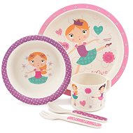 ZOPA Bamboo Dish Set - Dancing girl - Children's Dining Set
