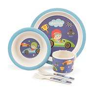 ZOPA Bamboo Dish Set - Little racer - Children's Dining Set