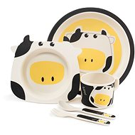 ZOPA Bamboo Dish Set - Cow - Children's Dining Set