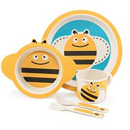 ZOPA Bamboo Dish Set - Bee - Children's Dining Set