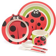ZOPA Bamboo Dish Set - Ladybird - Children's Dining Set