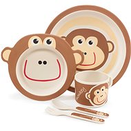 ZOPA Bamboo Dish Set - Monkey - Children's Dining Set