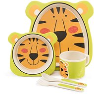 ZOPA Bamboo Dish Set - Tiger - Children's Dining Set