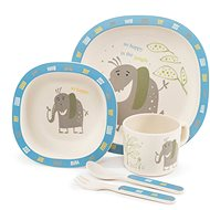 ZOPA Bamboo Dish Set - Elephant - Children's Dining Set