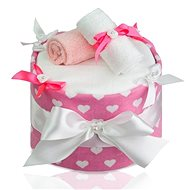 T-tomi LUX Nappy Cake - Big Hearts - Set