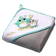 BabyOno Hooded Bath Towel - gray - Towels for babies
