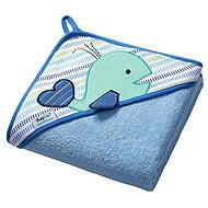 BabyOno Hooded Bath Towel - blue - Towels for babies