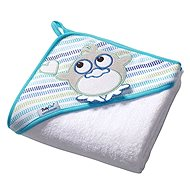 BabyOno Hooded Bath Towel - white - Towels for babies