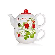BANQUET STRAWBERRY, Ceramic with Cup - Teapot