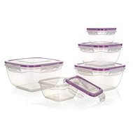 BANQUET Set of Food Containers 0,275 / 0,5 / 0,9 / 1,5 / 2,4l, 5pcs, Violet Lids