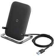 Baseus Rib Horizontal and Vertical Holder Wireless Charging 15W Black - Wireless Charger