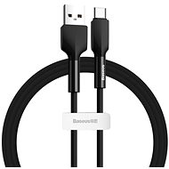 Baseus Silica Gel Cable USB to Type-C (USB-C) 1m Black - Data Cable