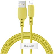 Baseus Colorful Lightning Cable, 2.4A ,1.2m, Yellow - Data cable