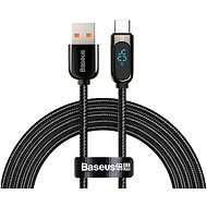 Baseus Display Fast Charging Data Cable USB to Type-C 5A 2m Black - Data Cable