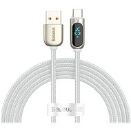 Baseus Display Fast Charging Data Cable USB to Type-C 5A 2m White - Data Cable