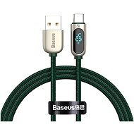 Baseus Display Fast Charging Data Cable USB to Type-C 5A 2m Green - Data Cable