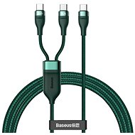 Baseus Flash Series Fast Charging Data Cable Type-C to Dual USB-C 100W 1.5m Green - Data cable