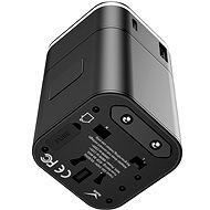 Baseus Removable 2 in 1 Universal Travel Adapter PPS Quick Charger Edition Black - Travel Power Adapter