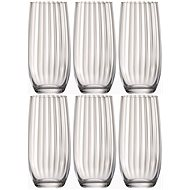 Bohemia WATERFALL Crystal Water Glasses, LD, 350ml, 6pcs - Glass for Cold Drinks