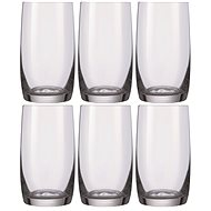 Bohemia HB IDEAL Crystal Water Glasses, 380ml, 6pcs - Glass for Cold Drinks