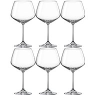BOHEMIA CRYSTAL GISELLE  Red Wine Glass 580ml 6 pcs - Glass Set