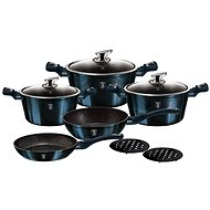 BerlingerHaus Aquamarine Metallic Line Cookware Set, 10pcs