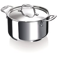 BEKA CHEF 24CM, STAINLESS STEEL, with Lid - Pot