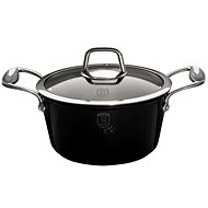 BerlingerHaus Kastrol with marble surface 20cm Royal Black Collection BH-1676 - Pot