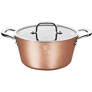 BerlingerHaus Marble-Coated Casserole with Lid 24cm Bronze Titanium Collection BH-1689 - Pot