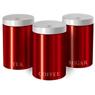 BerlingerHaus Set of Red Metallic Passion Cans 3 pcs