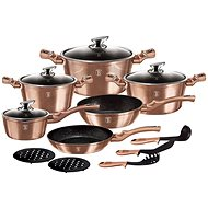 BerlingerHaus Copper Metallic Line 15 pcs - Set of pots