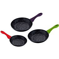 SWISS HOME Set of pans with marble surface 3pcs - Cookware Set