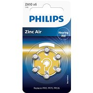 Philips battery for hearing aids 6pcs (ZA10B6A/10) - Battery