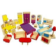 Bigjigs Wooden furniture for dollhouses - Game set