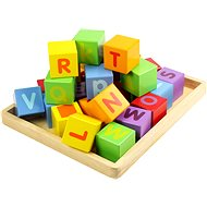 Wooden cubes with alphabet - Game set