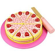 Bigjigs Wooden cutting cake with strawberries - Game set