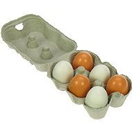 Wooden Food - Wooden eggs in a box - Game set