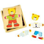 Wooden Mr Bear Dress Up Puzzle In a Box - Puzzle