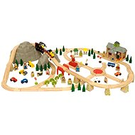 Bigjigs Wooden Trainers - Mountain Road 112 Pieces - Train Set