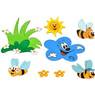Meadow and Bees Wooden Decoration - Children's bedroom decoration