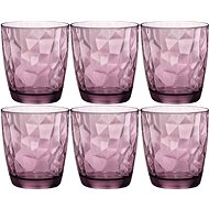 BORMIOLI DIAMOND Jars 300ml violet, 6-pack - Glass Set