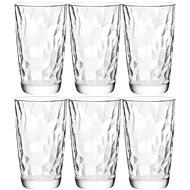 BORMIOLI DIAMOND Jars 470ml clear, 6-pack - Glass Set