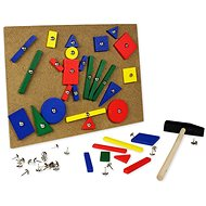 Wooden Hammer and pins - Game set