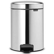 Brabantia, pedal bin newlcon 5l colour shiny steel - Waste bin