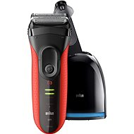 BRAUN Series 3 3050 Clean & Charge Red - Electric razor