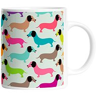 Butter Kings Mug - Dachsunds in Colours - Mug
