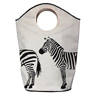 Butter Kings Multifunctional Laundry Bag, Zebra Print - Laundry Basket