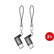 AlzaPower Micro USB Keychain - USB-C (2pcs) - Adapter