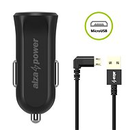 AlzaPower Car Charger X310 + AlzaPower 90Core Micro USB, 1m, Black - Car Charger